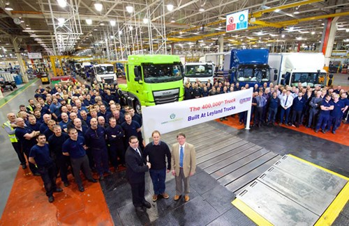 DAF Produces its 400,000th truck at its Leyland, U.K. Facility