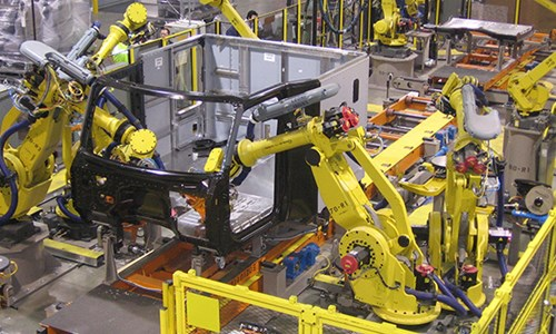 Peterbilt's Denton, Texas Factory Robotic Cab Assembly Equipment